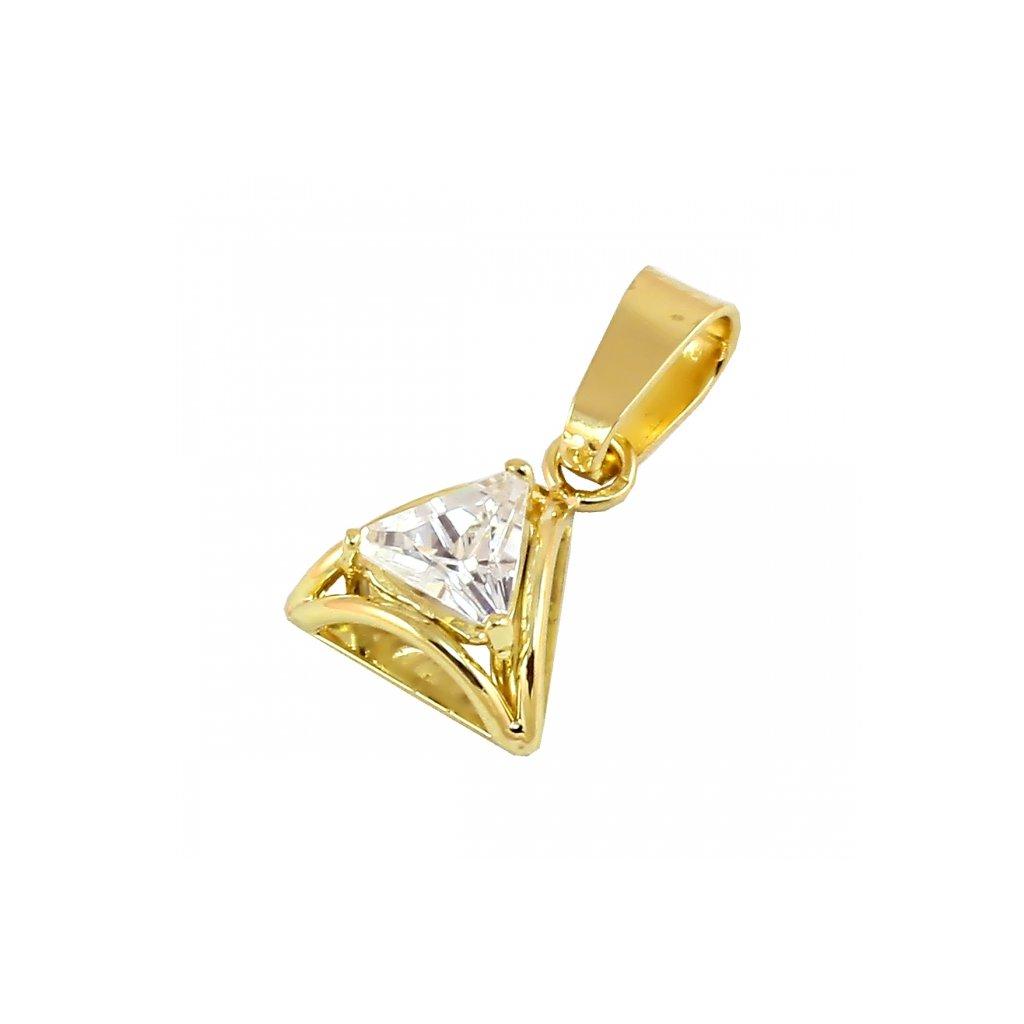 Privesok zo žltého zlata so zirkónom 24182Z