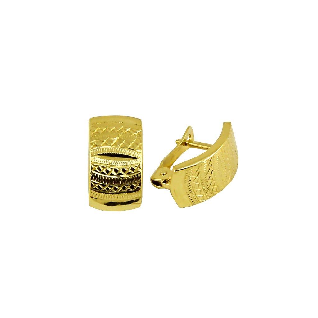 výrazné zlaté náušnice 23187