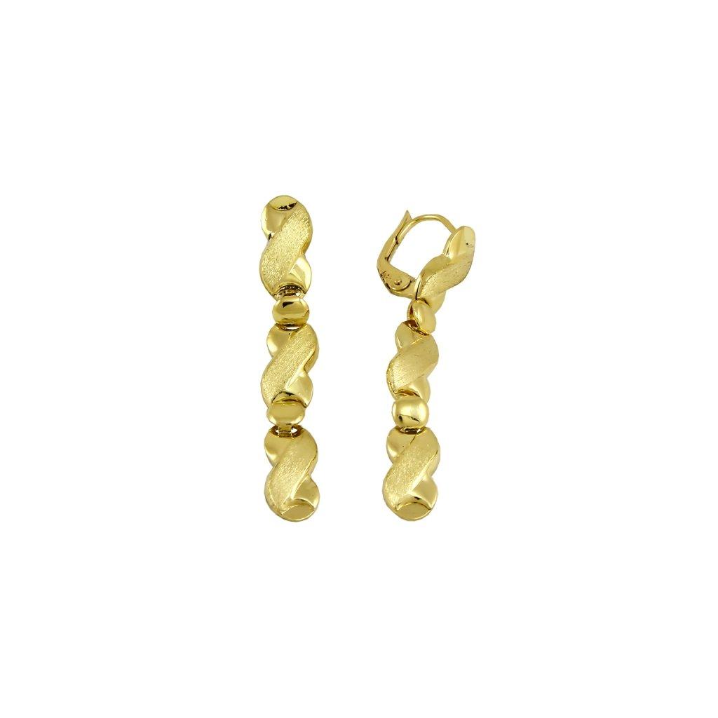 netradičné zlaté náušnice 23441