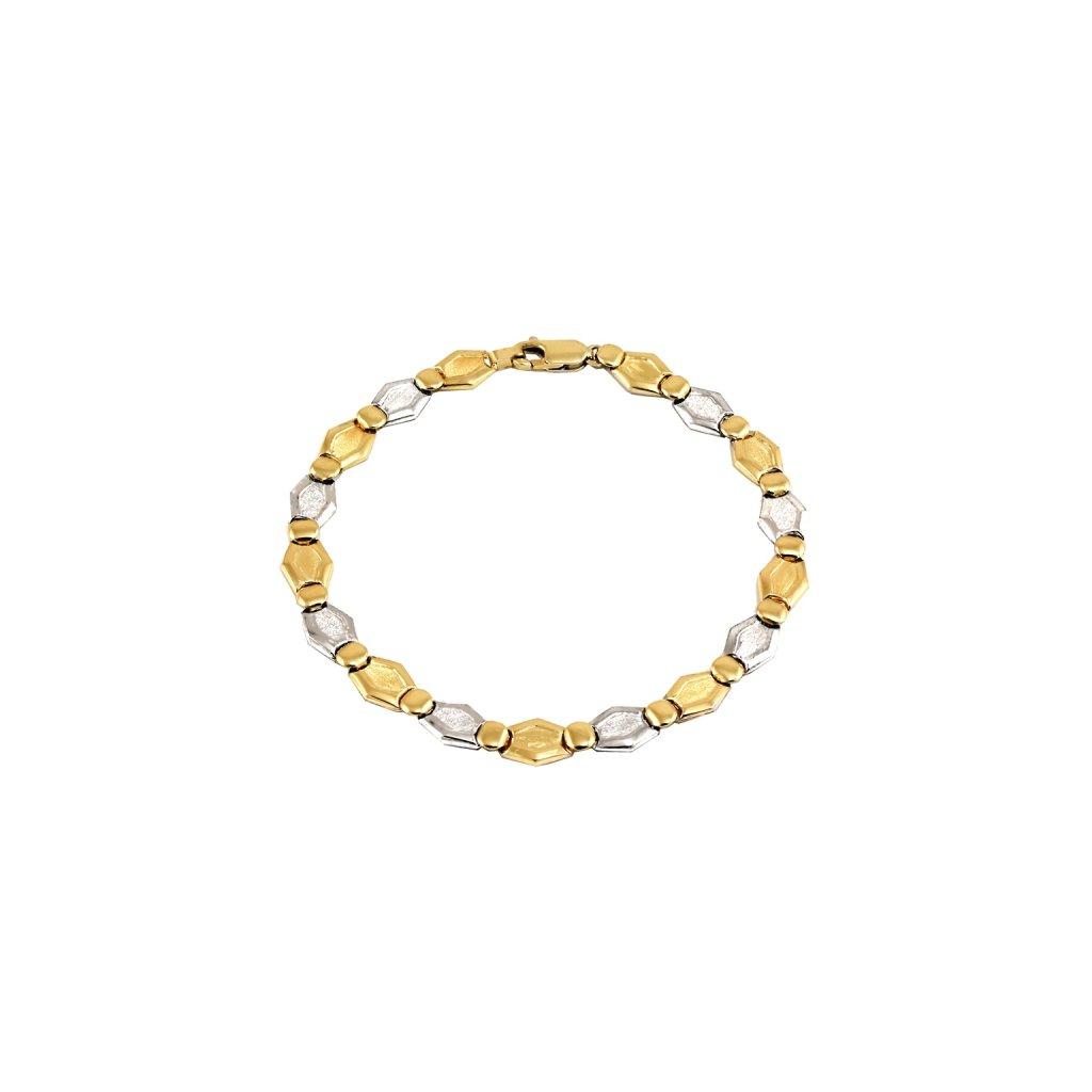 Pekný dámsky zo žlto bieleho zlata 25440ZB
