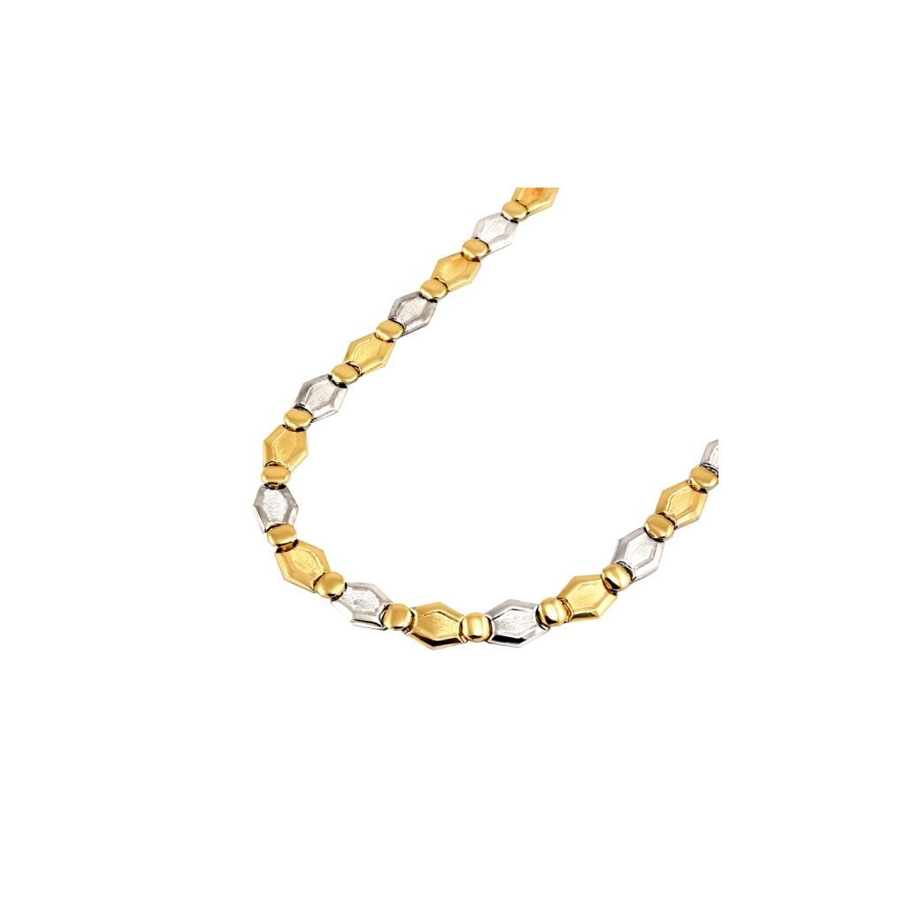 Náhrdelník z bieleho a žltého zlata  26440BZ
