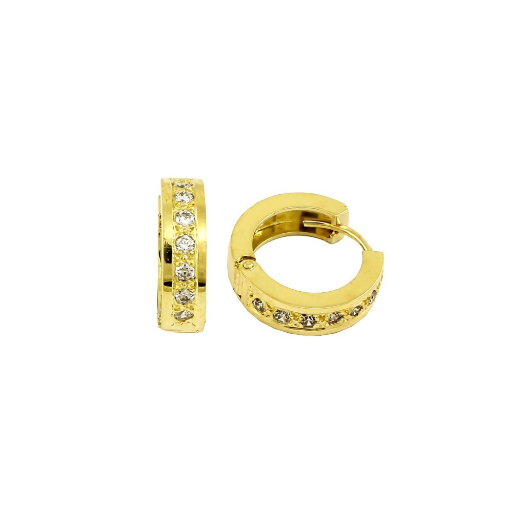 trblietavé zlaté náušnice 2349