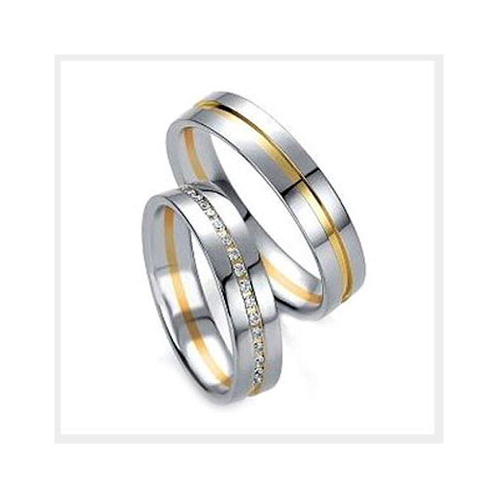 svadobné obrúčky z bieleho zlata 2014068