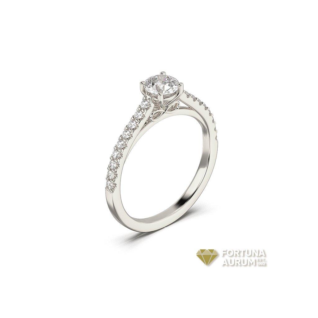 pekný prsteň z bieleho zlata 22156