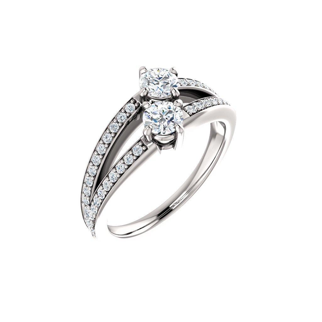 exkluzívny prsteň z bieleho zlata 122934