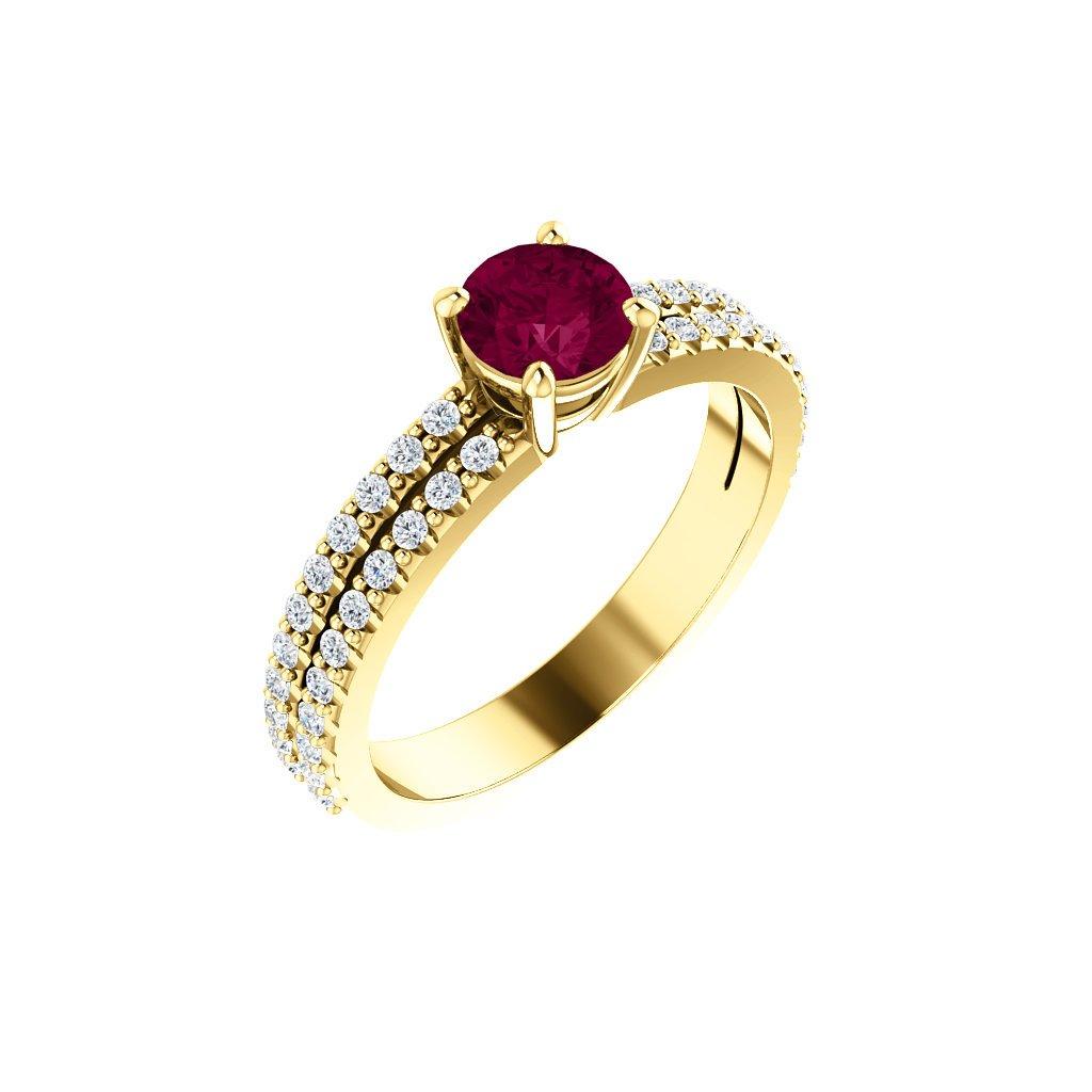 exkluzívny prsteň s rubínom 71588