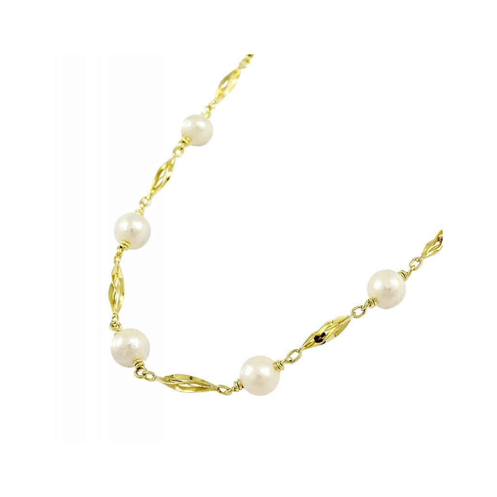 Zlatá perlová retiazka 2630/Z/Px