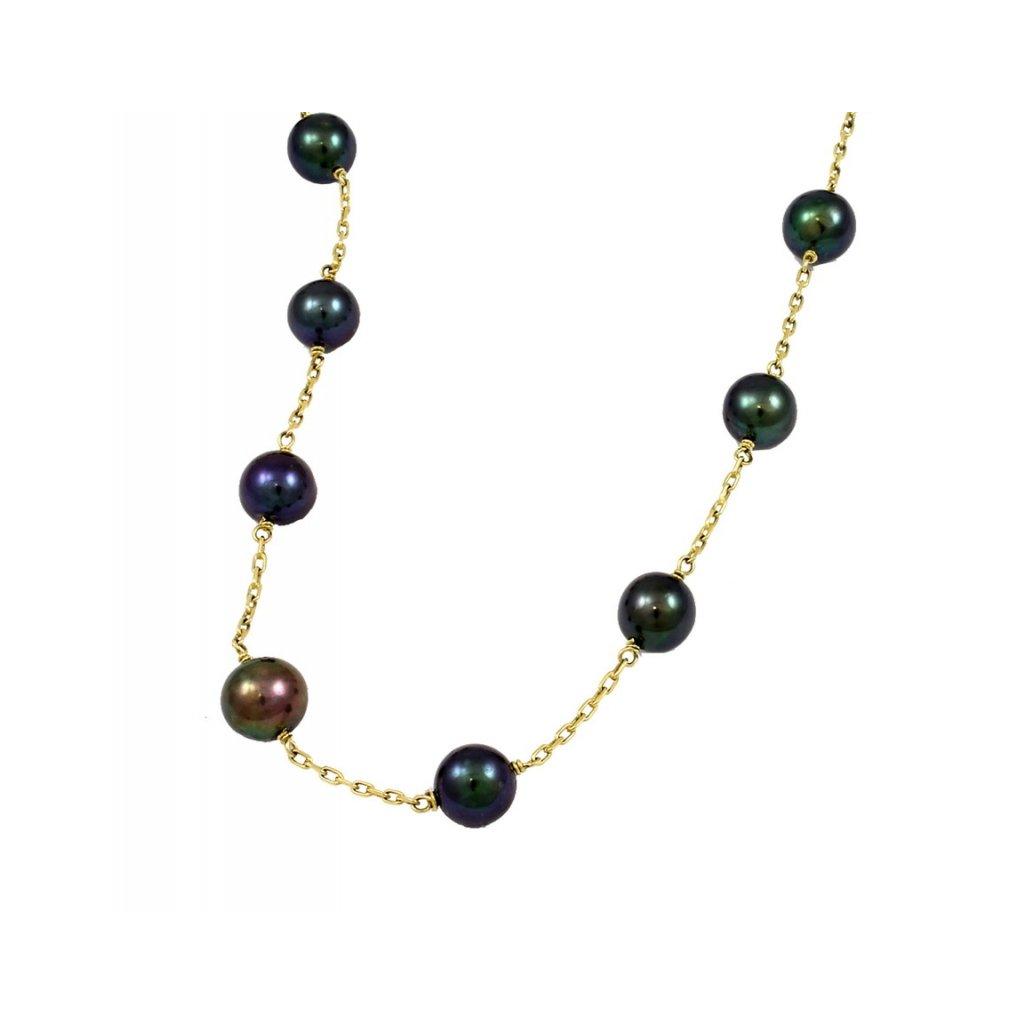 Zlata perlová retiazka 2663ZPy