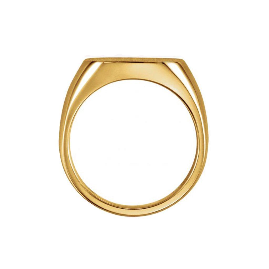 zlatý pečatný prsteň pre mužov 9454