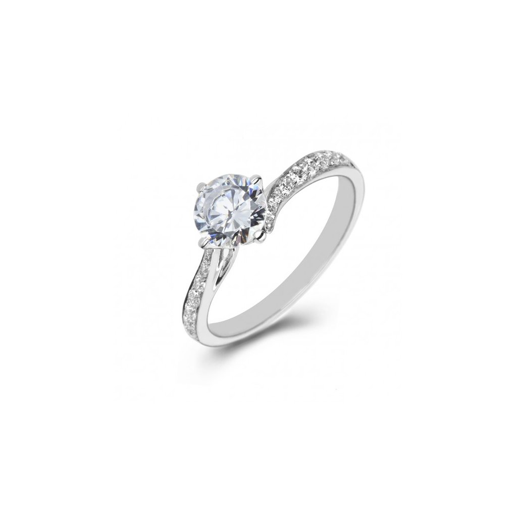 2272/BX zásnubný prsteň z bieleho zlata
