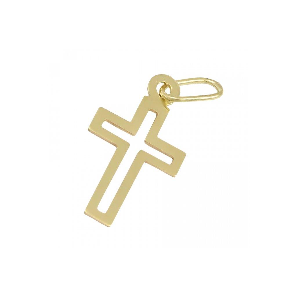 Privesok križik zo žltého zlata 2474Z
