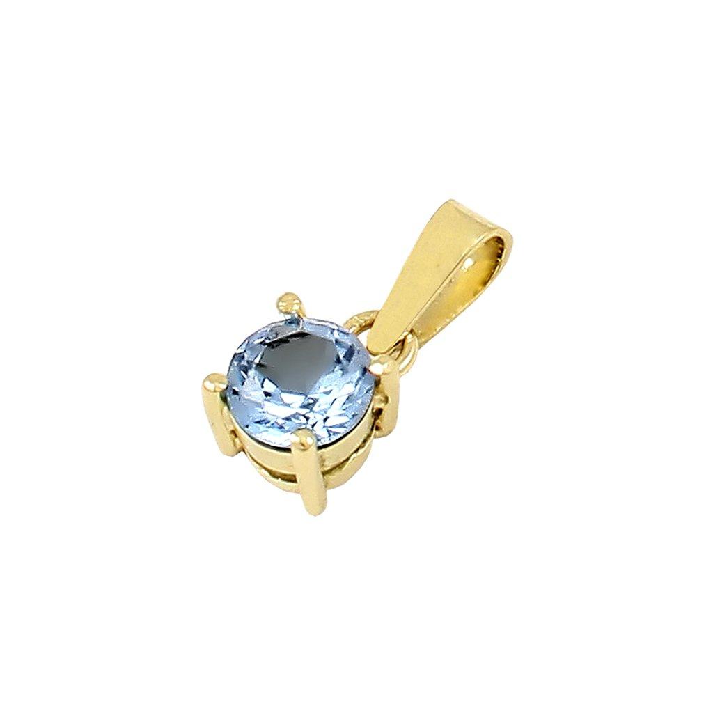 Zlatý privesok s akvamarinom 24136 Z