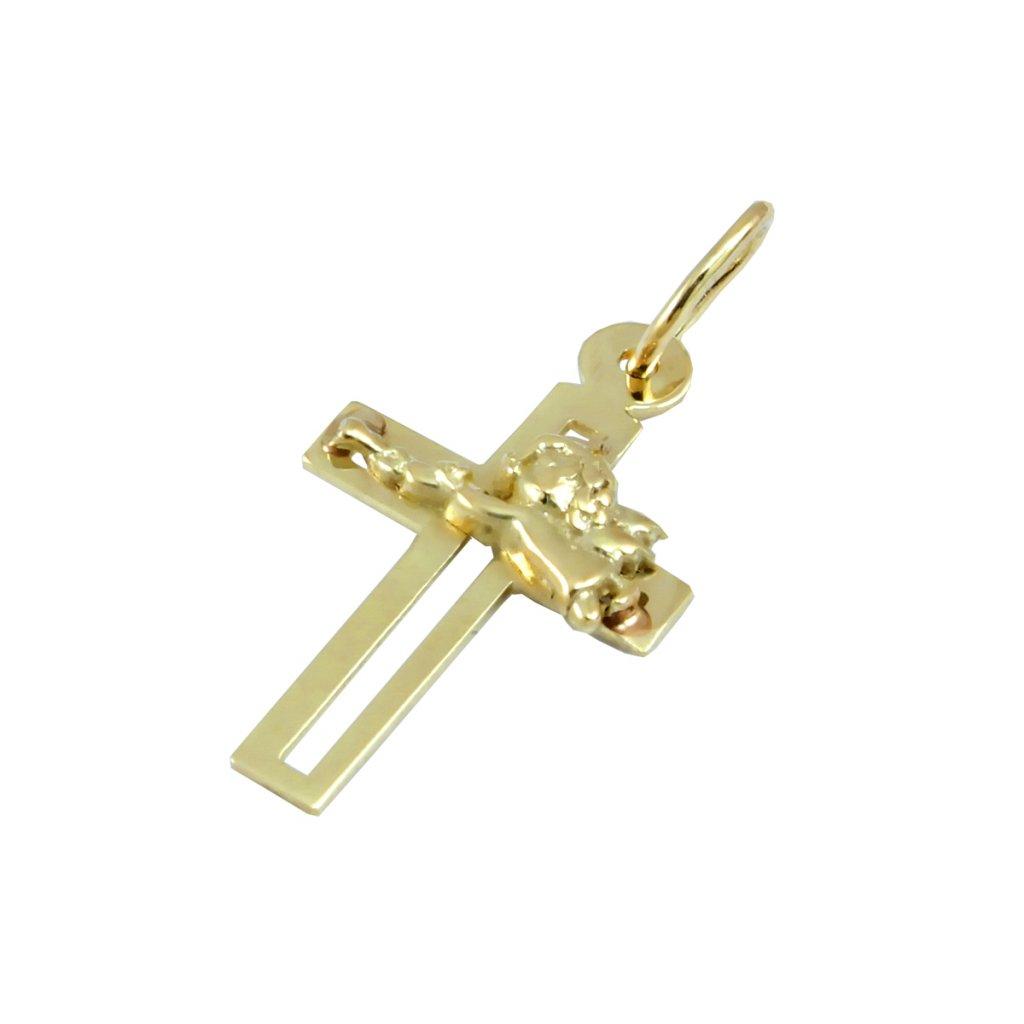 Prívesok zlatý krížik s anjeličkom 2408 Z 1