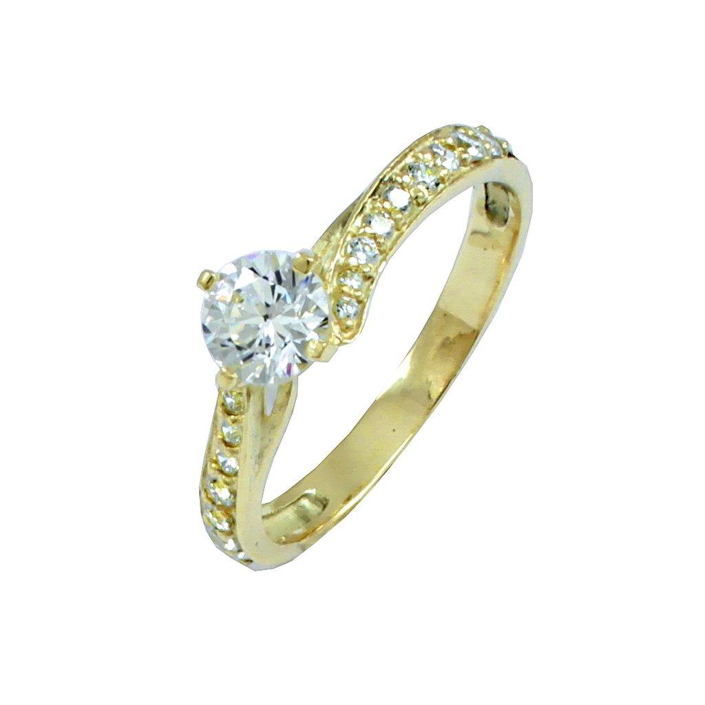 2272 Z X krásny zásnubný prsteň