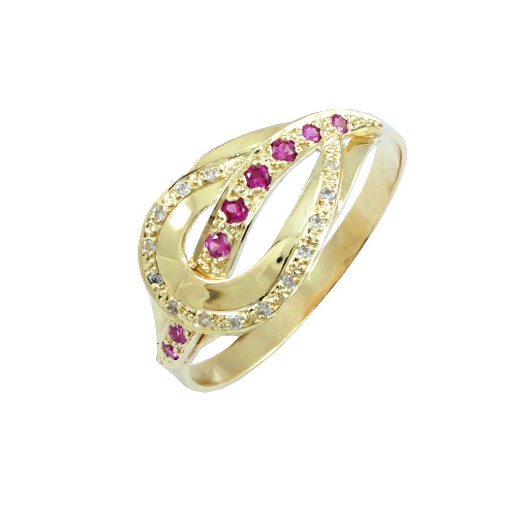 22193Z zlatý prsteň s kamienkami