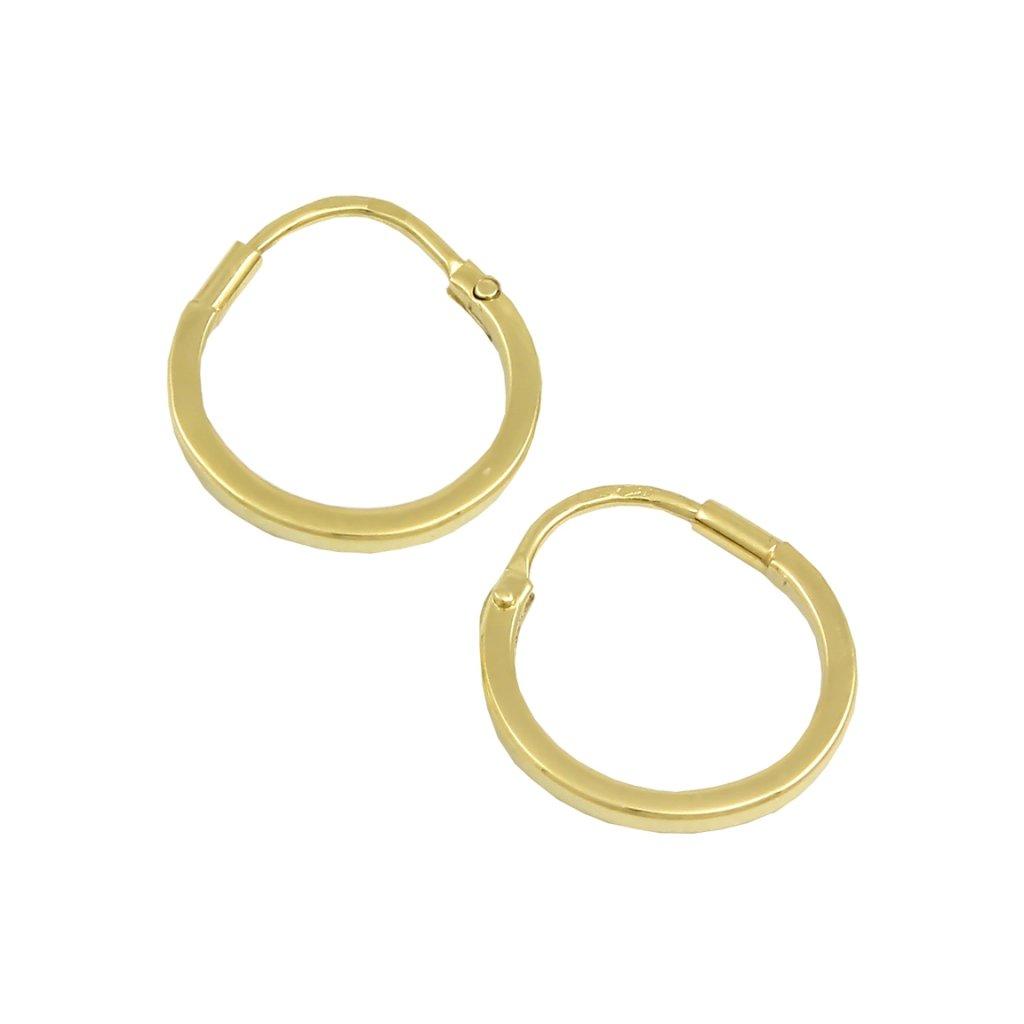 zlaté kruhy pre dievčatko