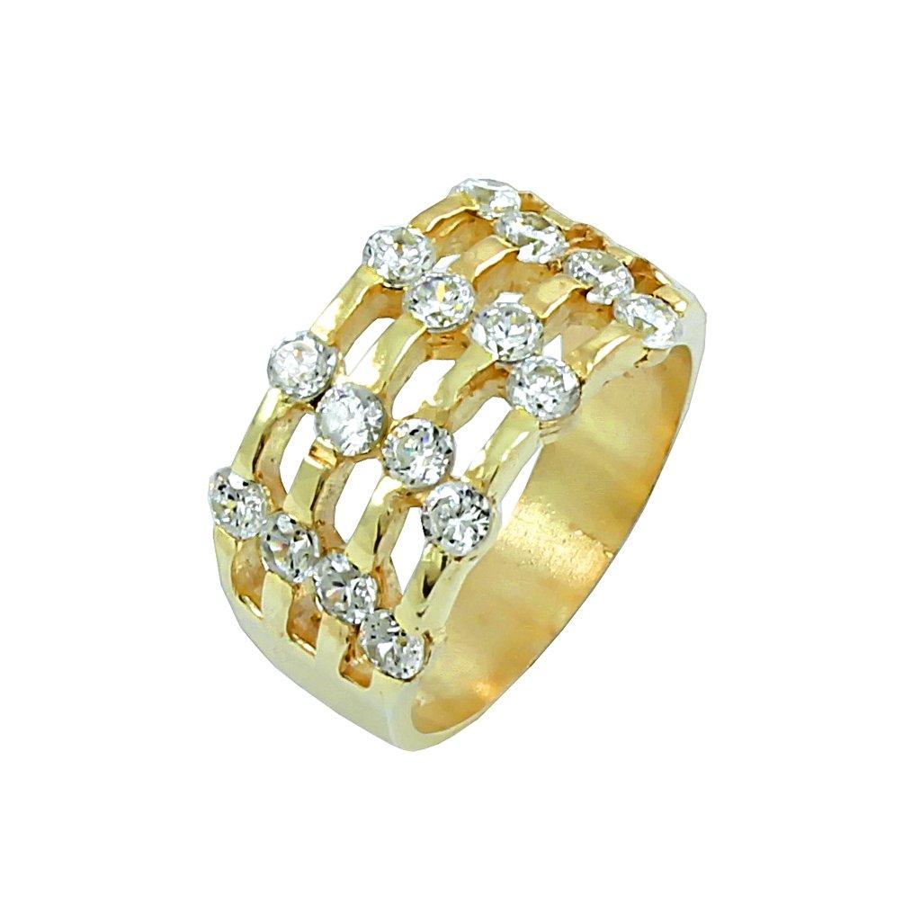 2215 Z X 1 zlatý prsteň so zirkónmi