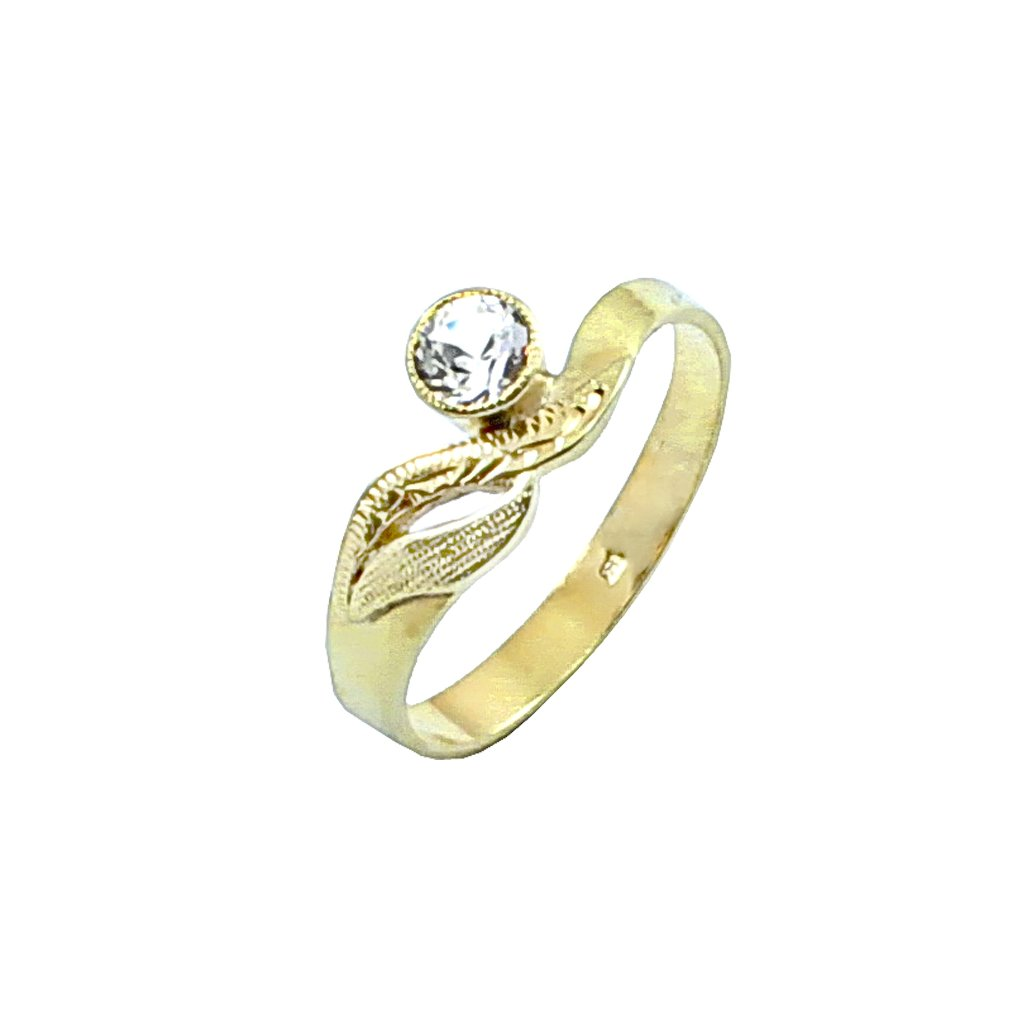 2224 Z X zlatý prsteň s očkom