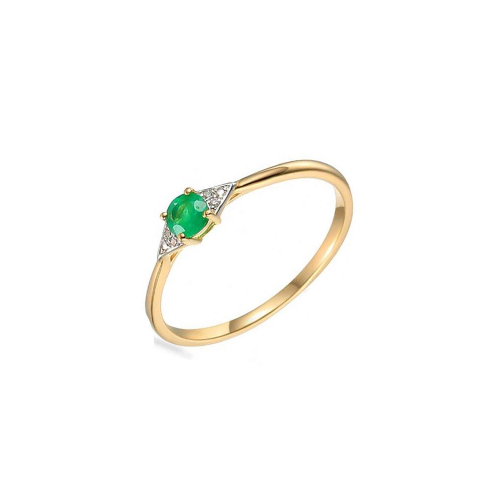 prsten smaragd 1