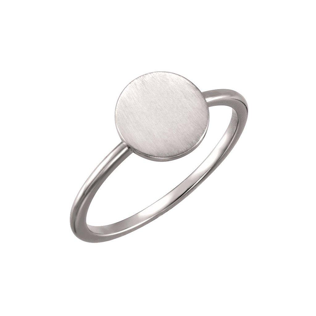 prsten z bieleho zlata 51399