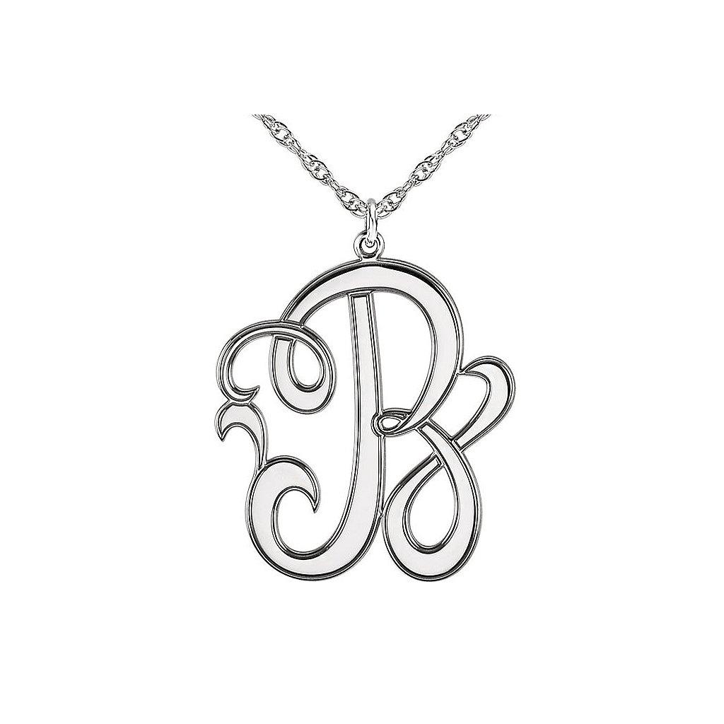 pismeno b b 86029 prívesok z bieleho zlata