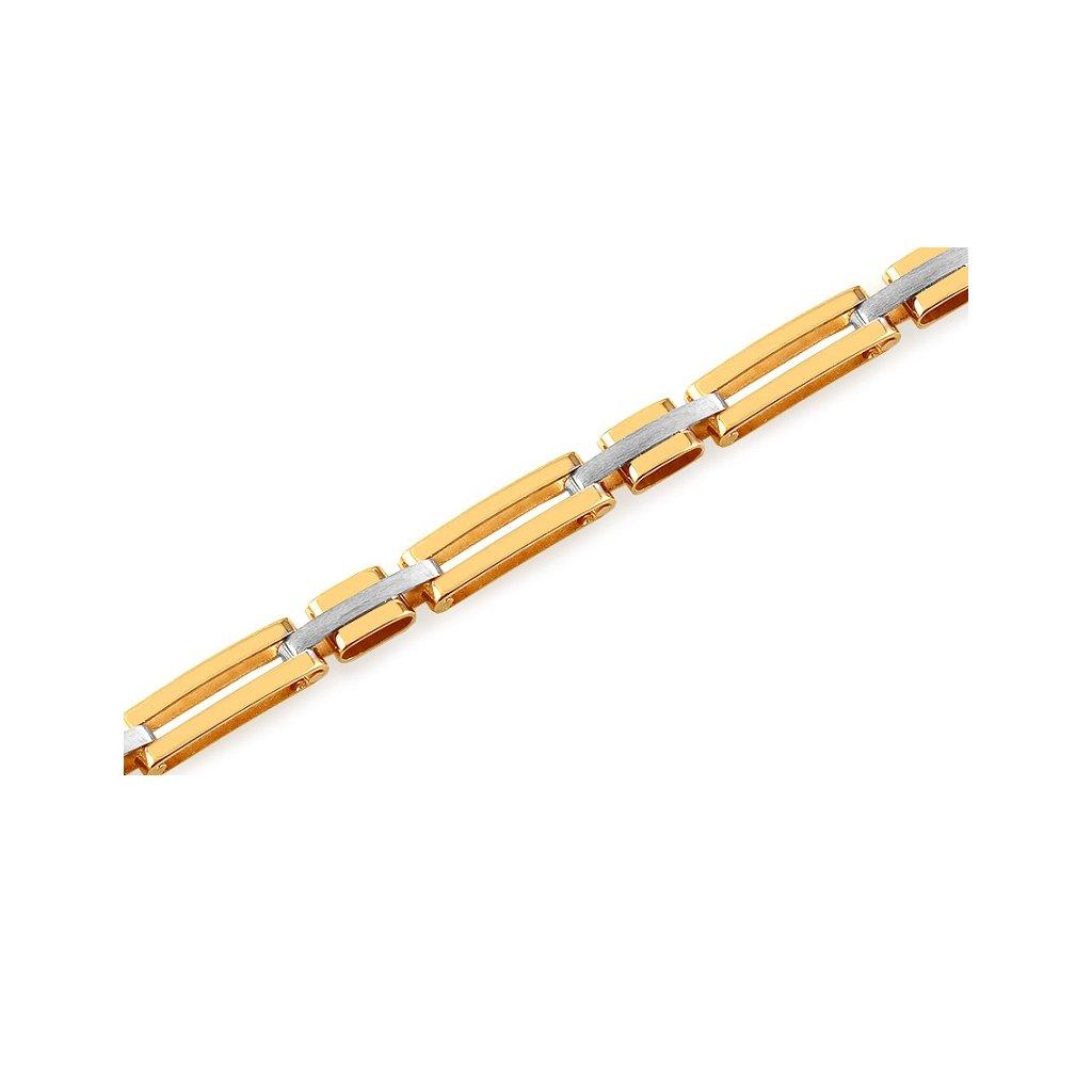 zlaty kombinovany naramok  vhodný pre muža i ženu.Pekný elegantný náramok  vhodný na každodennú príležitosť.