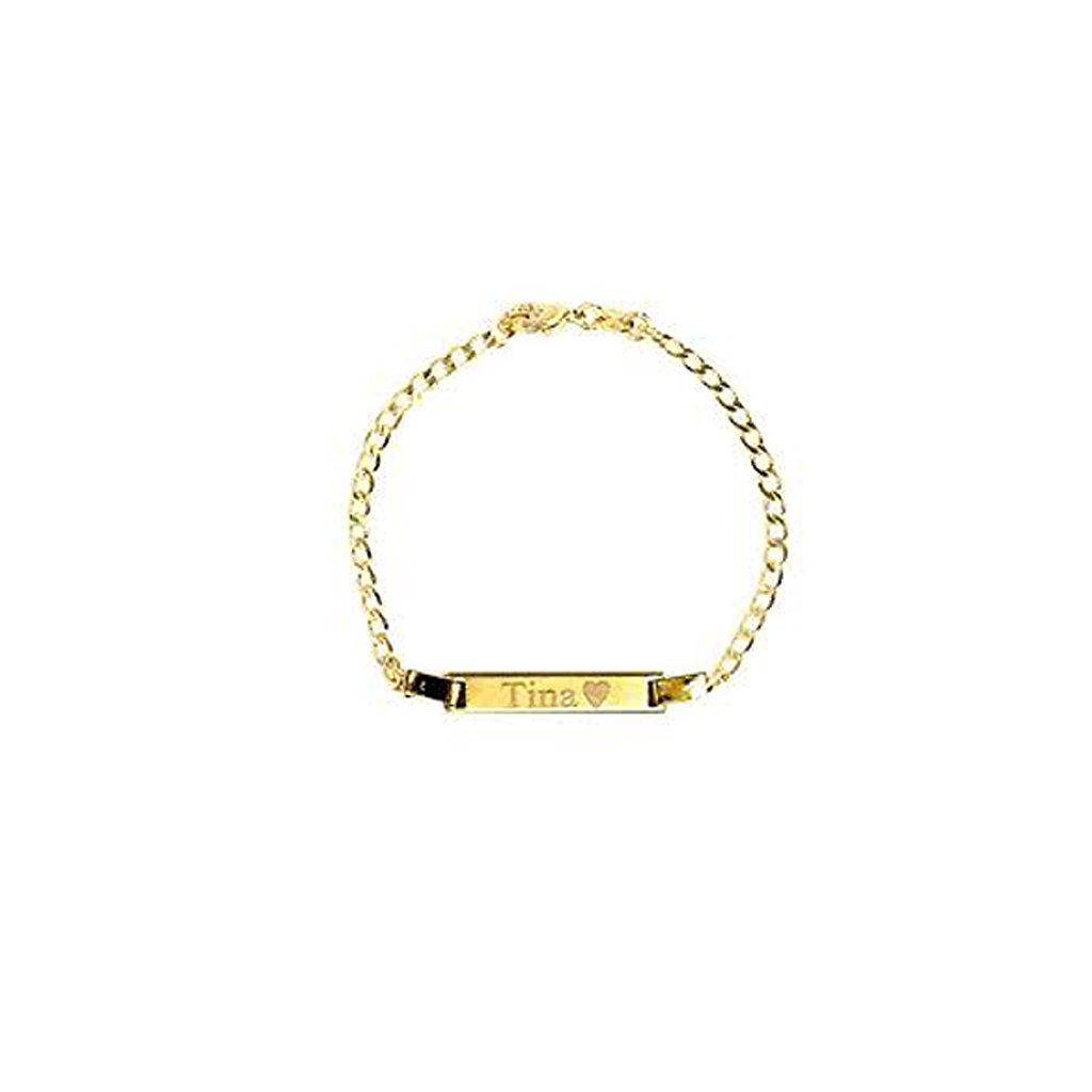 Zlatý platničkový náramok gravirovany 2519Z
