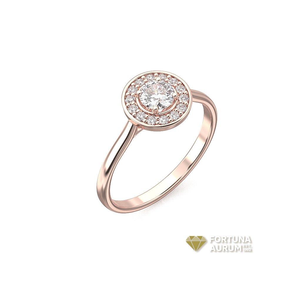 122743 prsteň z ružového zlata s rubínom