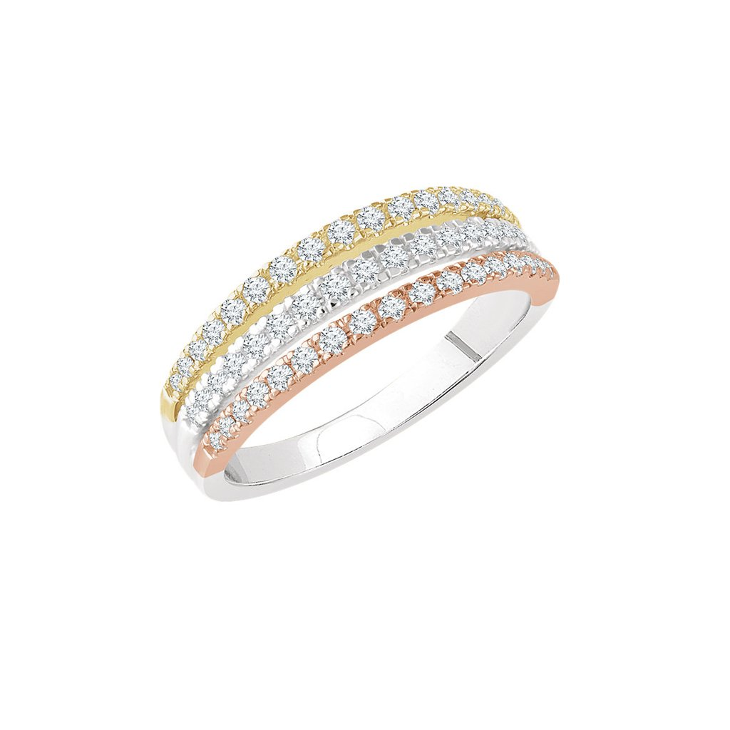 kombinovaný zlatý prsteň 652741