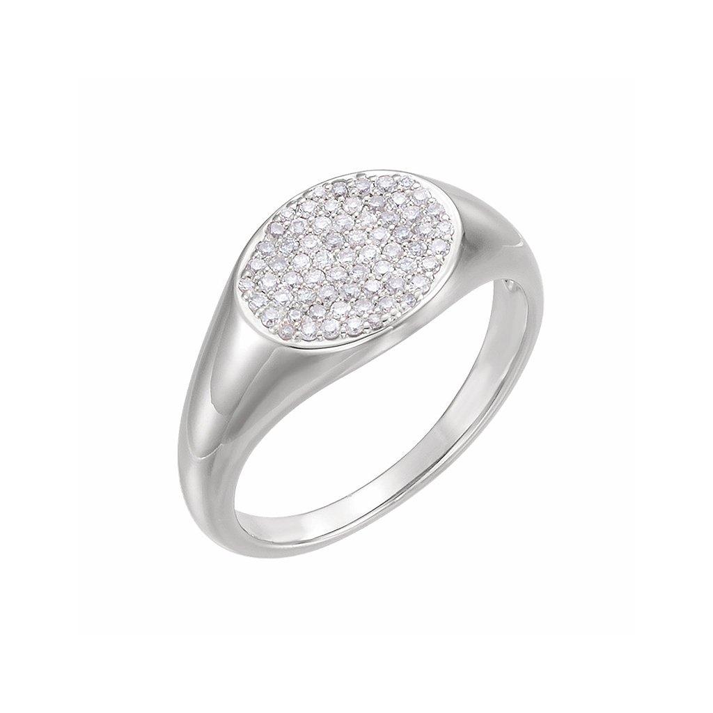 prsteň z bieleho zlata s kamienkami 123112b1