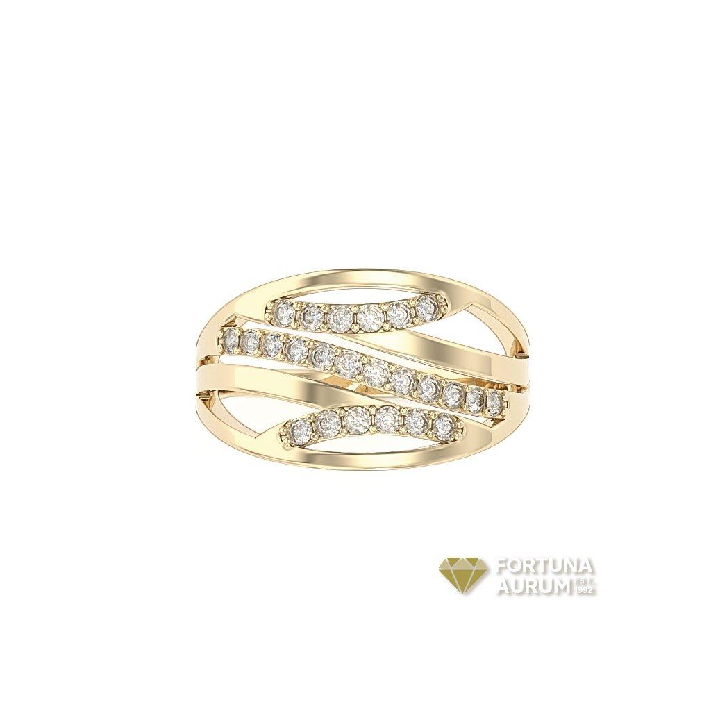 zlatý prsteň s kamienkami 652997z