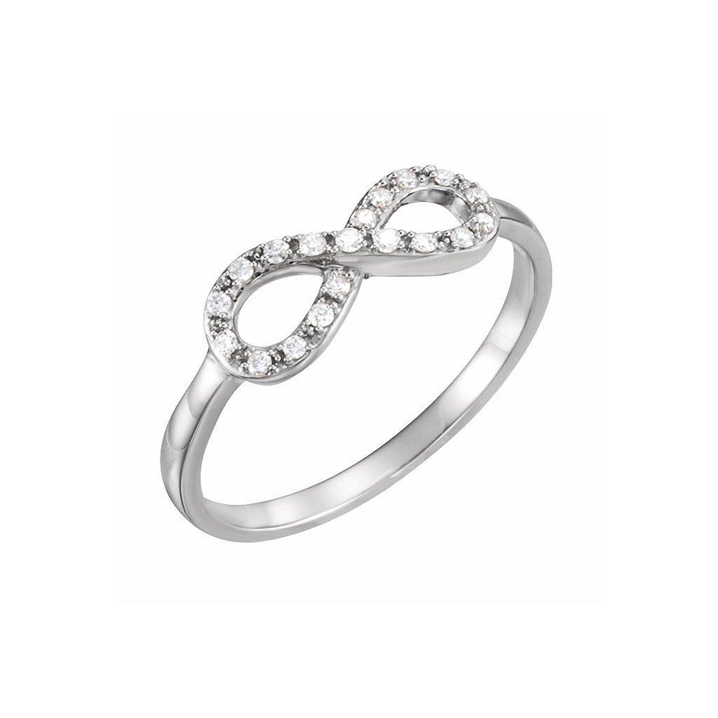 651088b1 prsteň nekonečno z bieleho zlata