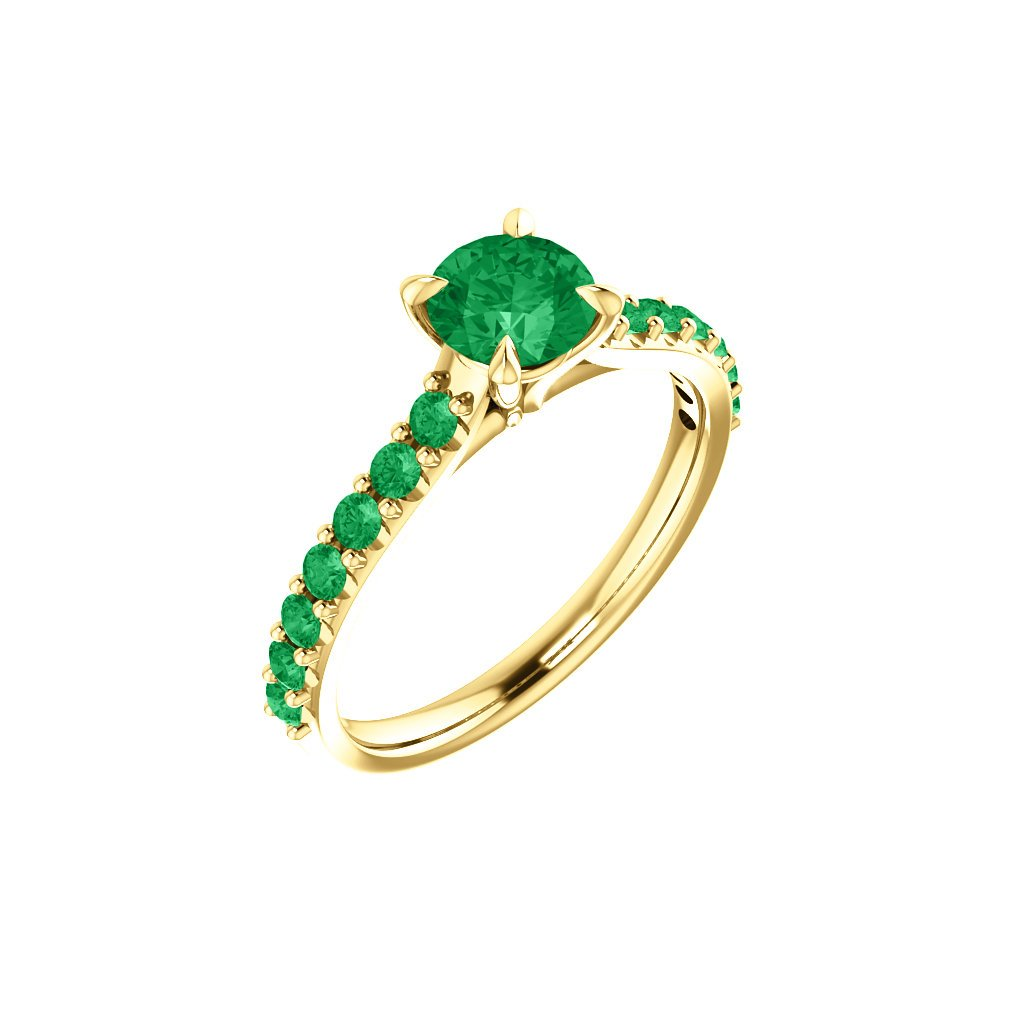 123651 Z Z smaragdový prsteň