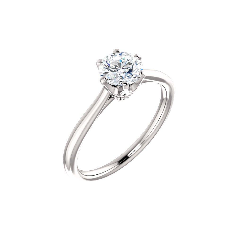 Briliantový prsteň z bieleho zlata  122004B