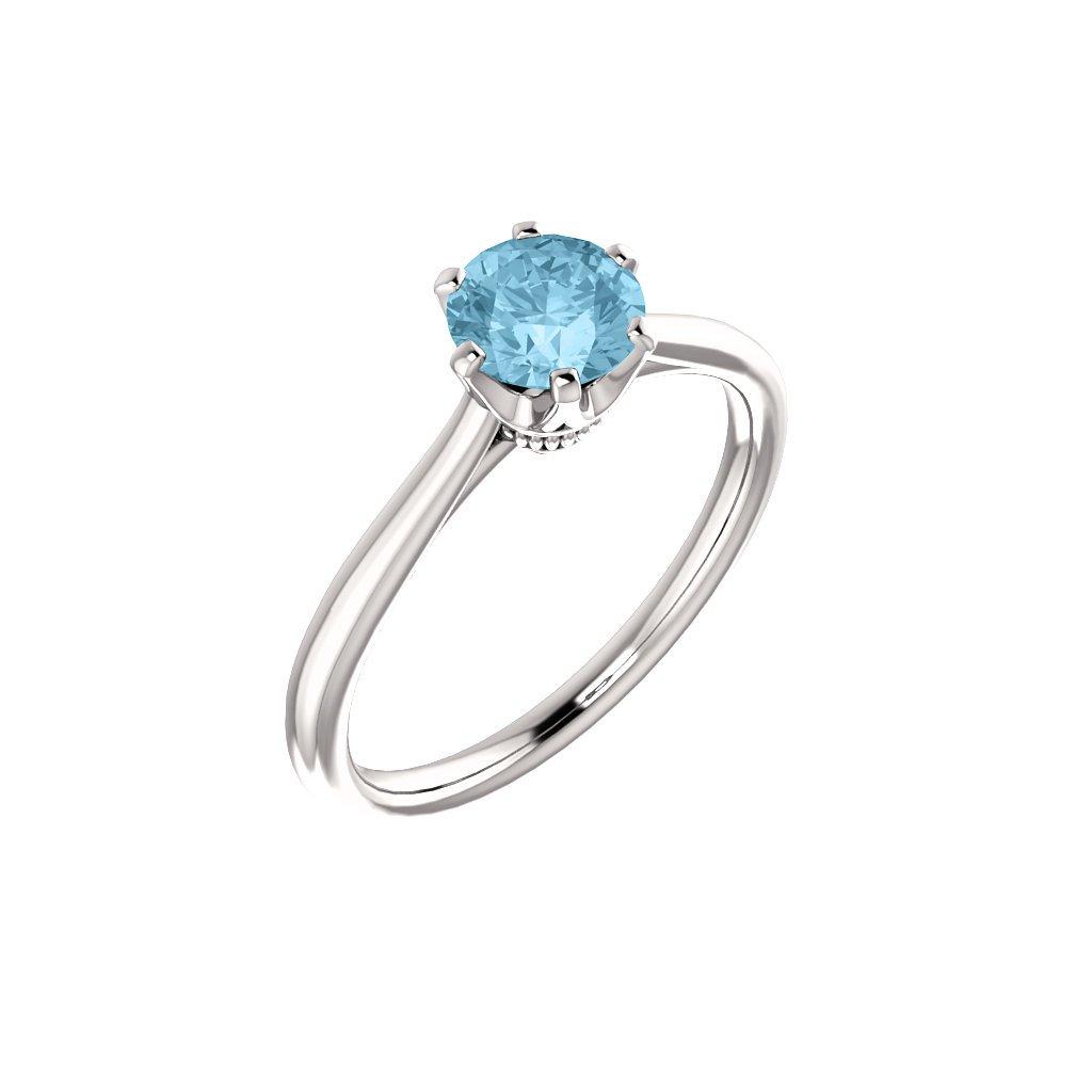 122004 B B dámsky prsteň s akvamarínom