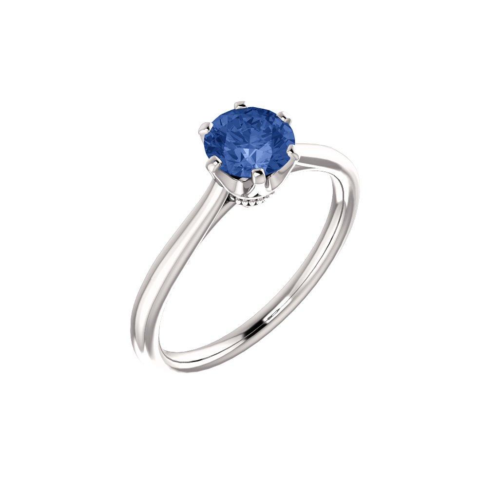 122004 B M zásnubný prsteň so zafírom
