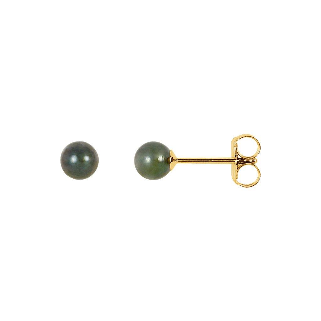 zlaté náušnice s perlami 23203