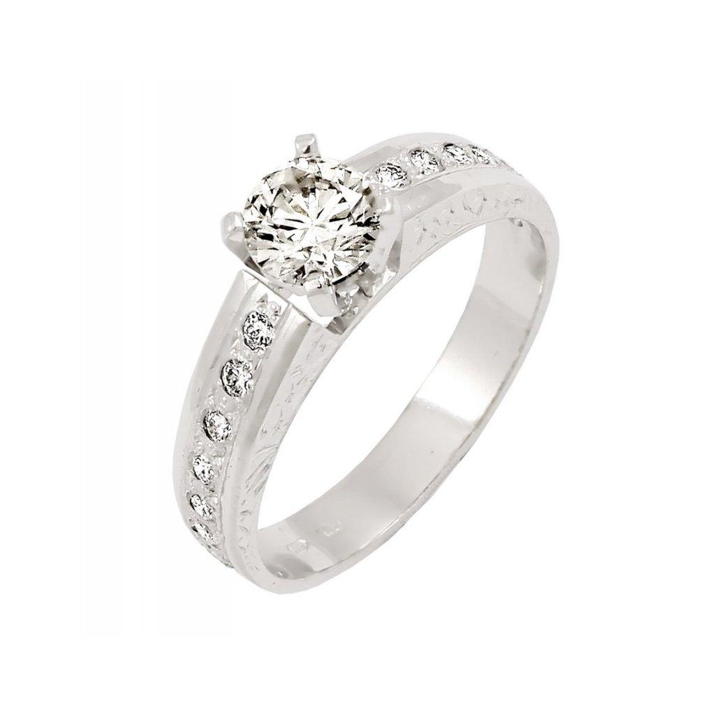 krásny snubný prsteň 22101b