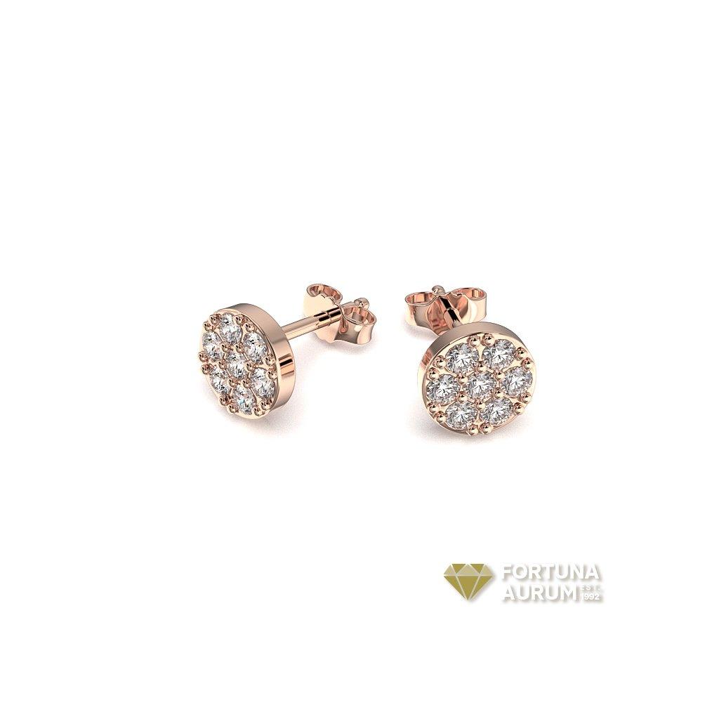 briliantové náušnice, ružové zlato86289R