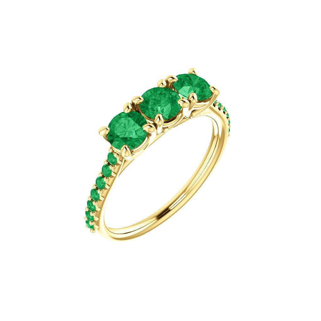 123589 Z Z smaragdový prsteň
