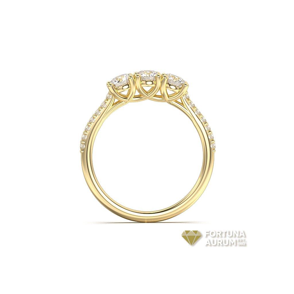 123589B Z Briliantový prsteň zo žlteho zlata