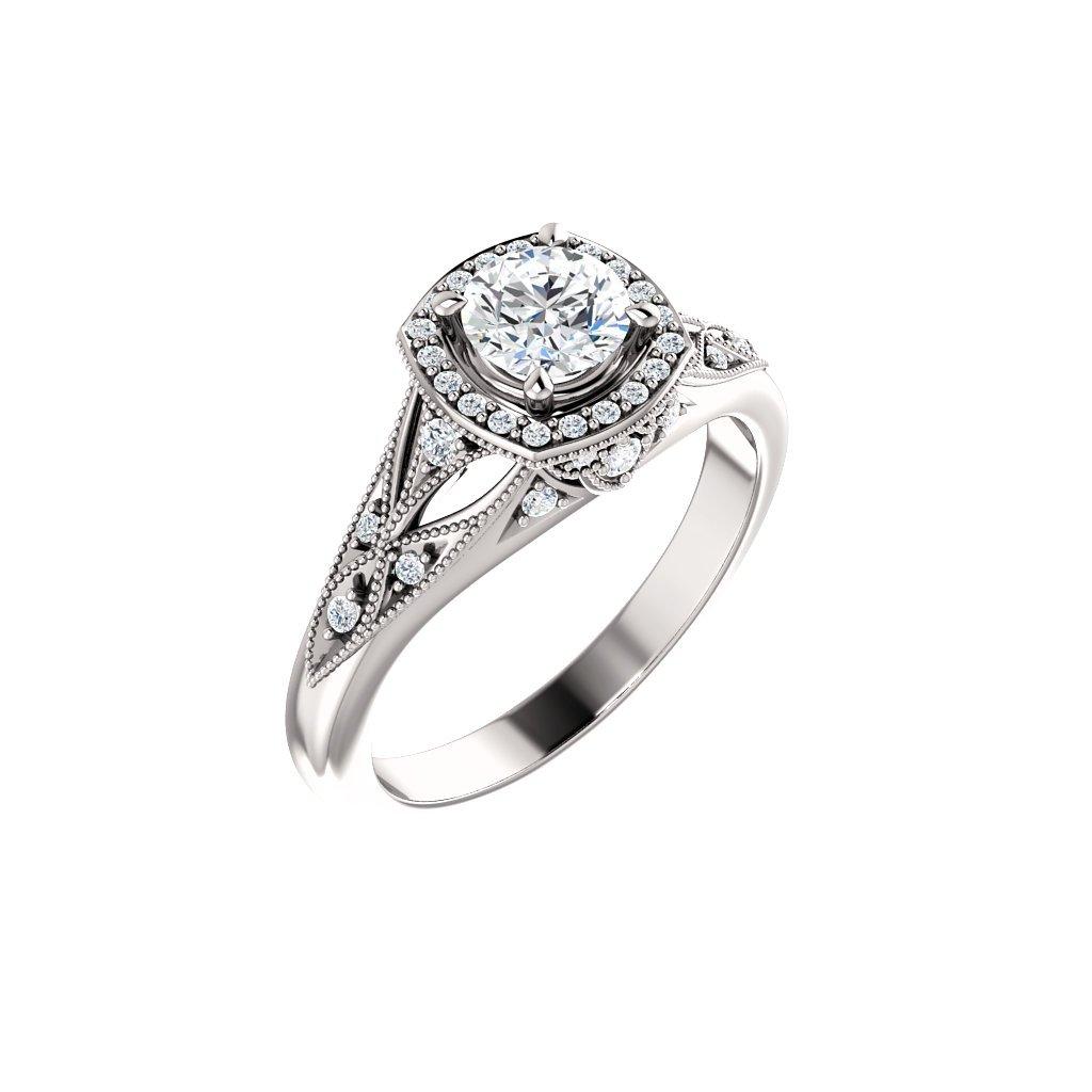 Briliantový prsteň z bieleho zlata 123832/22154B B X