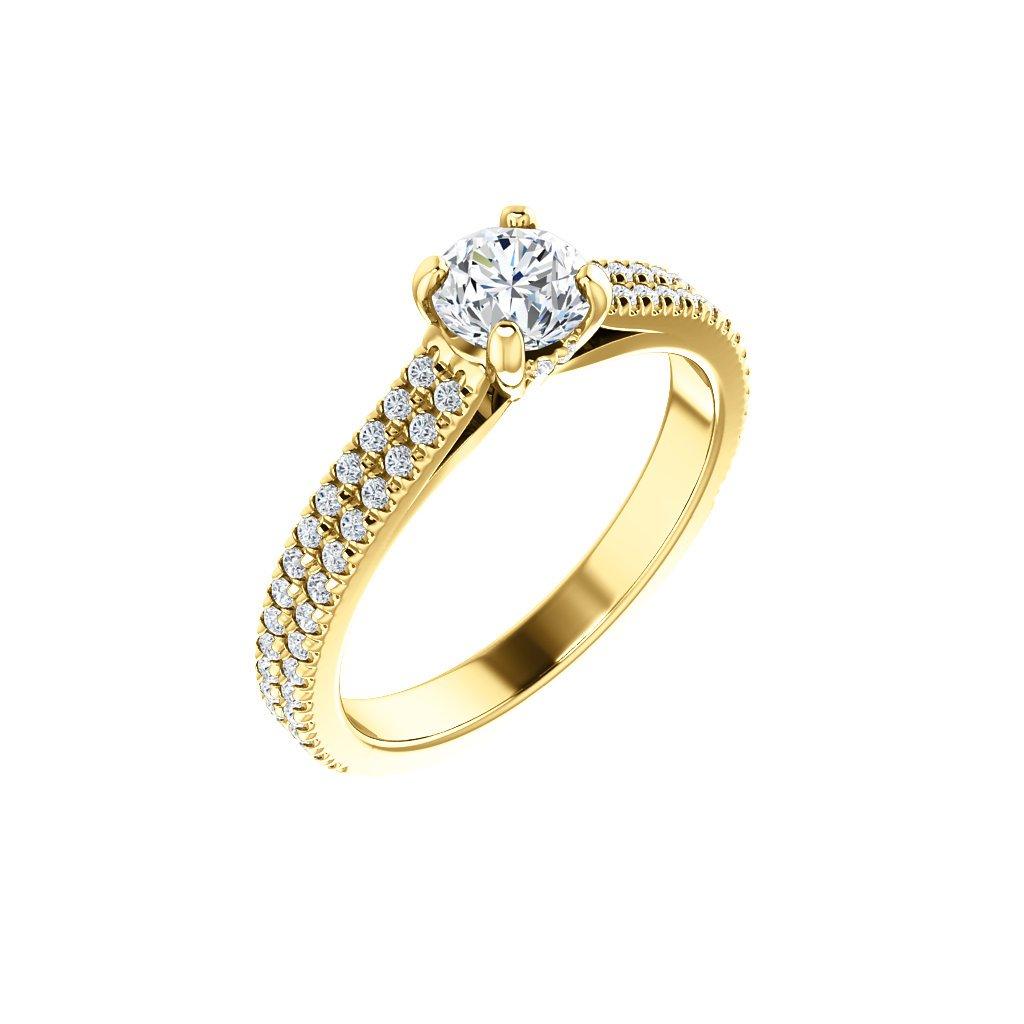 Briliantový prsteň zo žltého zlata 123972B Z X 1