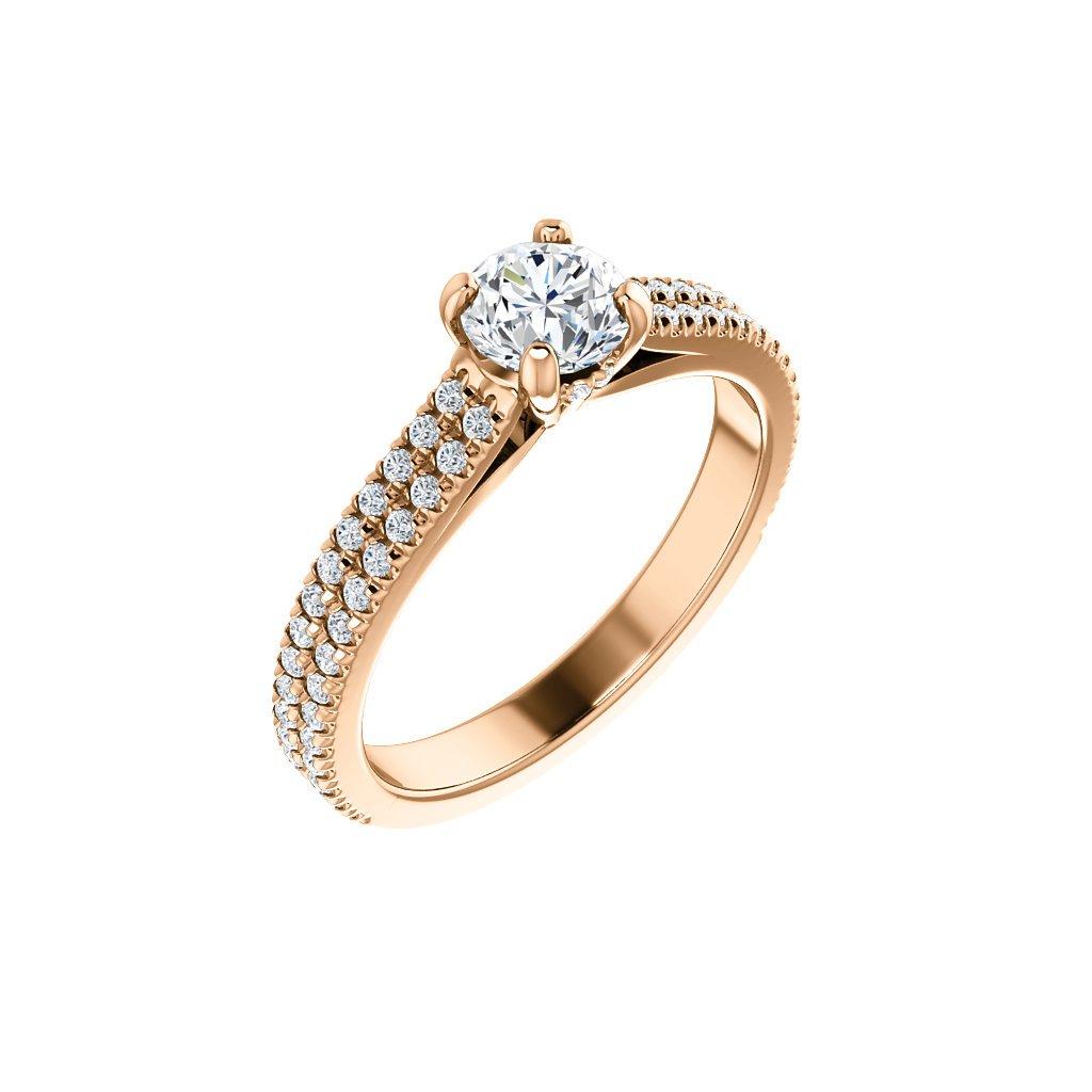 Prsteň z ružového zlata 22157/R/X