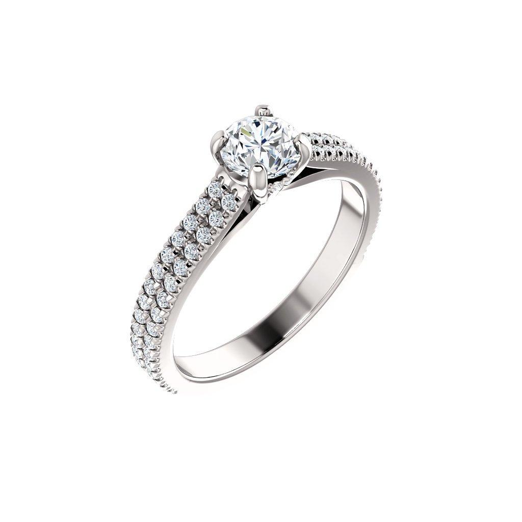 123972B B X zásnubný prsteň z bieleho zlata