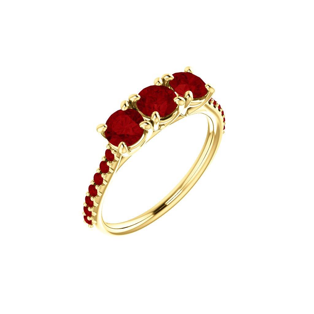 zlatý prsteň s červeným očkom 123589 Z C 1