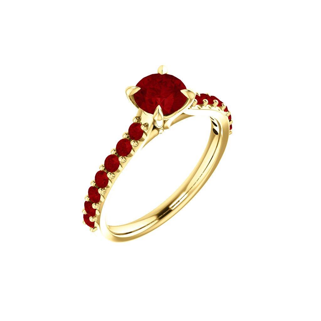 zlatý prsteň s červeným očkom 123651 Z C 1