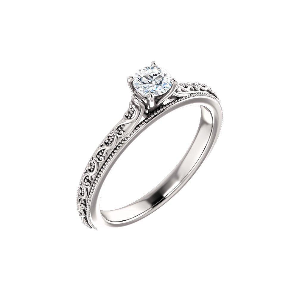 123063B prsteň z bieleho zlata s bielym očkom