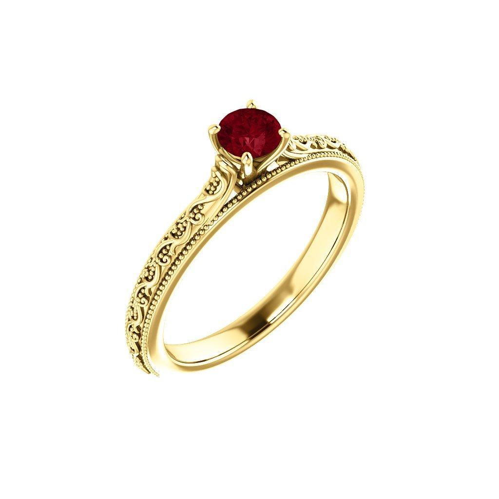 22151 z c zlatý prsteň s červeným očkom