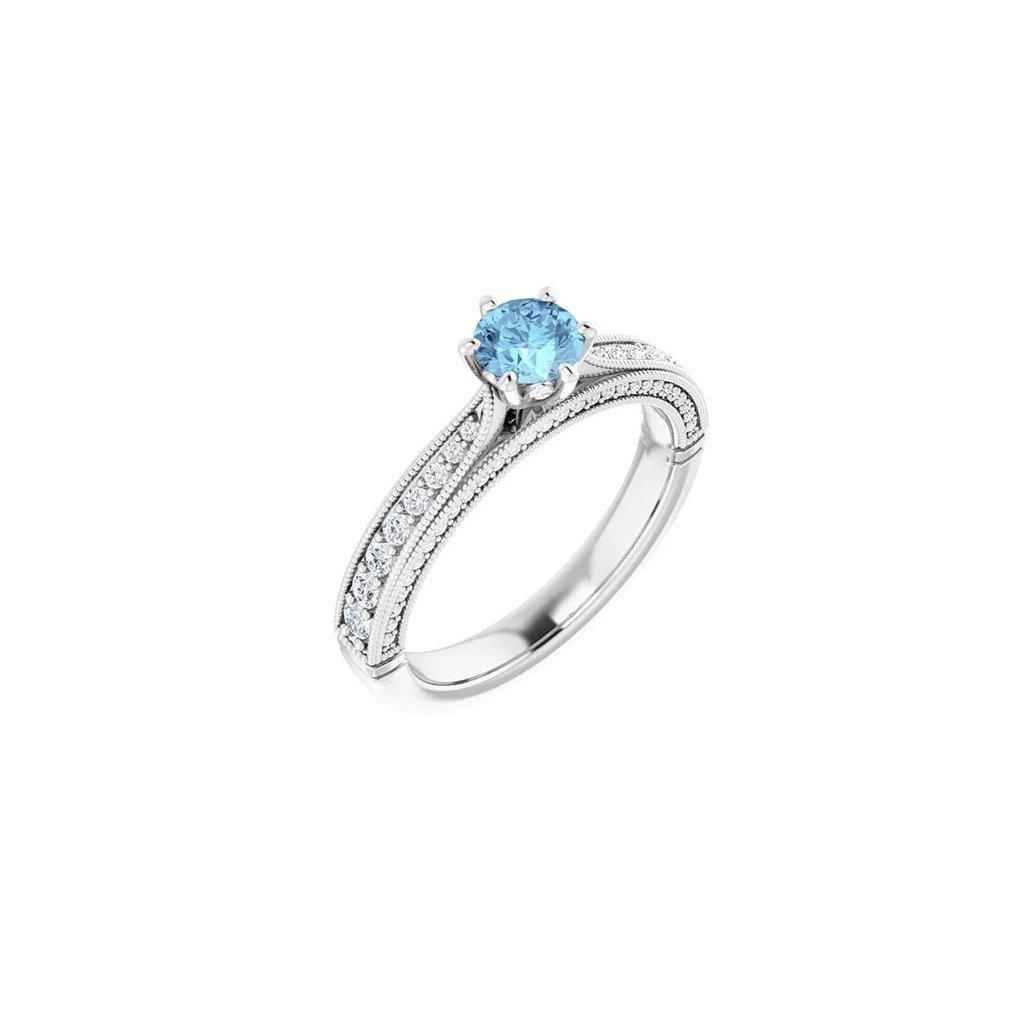Prsteň biele zlato 22159/BBX